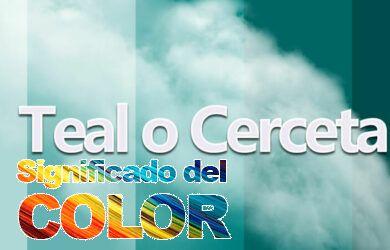 Color Teal o Cerceta; Psicología y significado