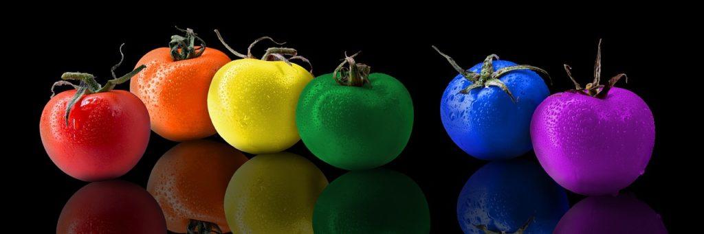 Psicología del color en la comida