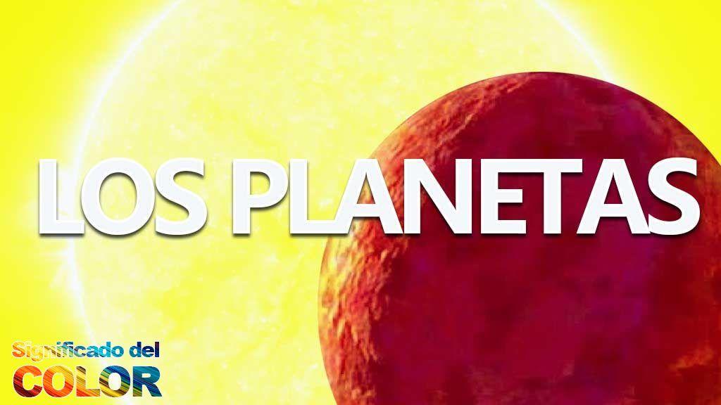El color de los planetas del sistema solar