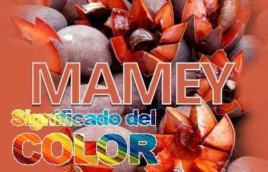qué significa el color mamey