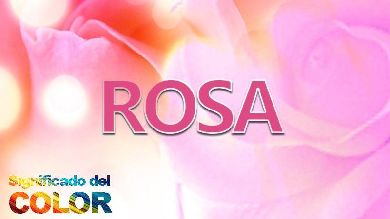 Significado del color rosa